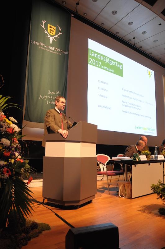 Landesjägermeister Jörg Friedmann