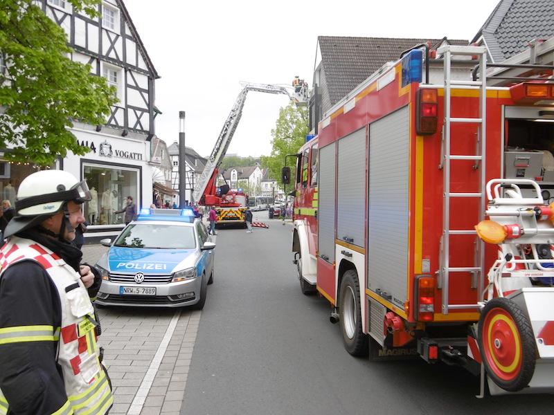 Entenküken von der Feuerwehr mit Drehleiter gerettet