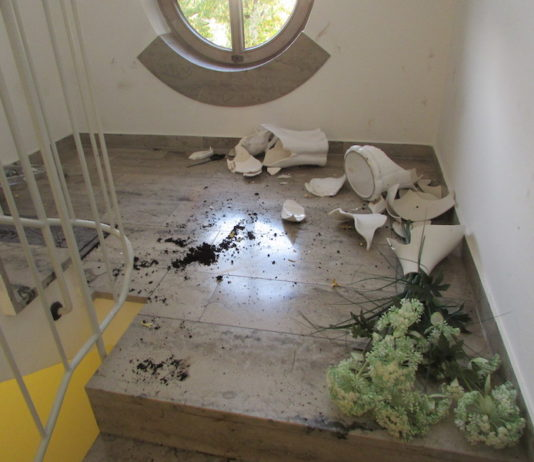Randaliertes Treppenhaus