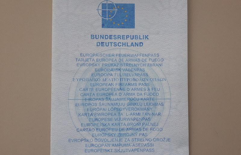 Europäischer Feuerwaffenpass