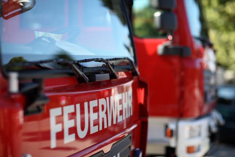 Front eines Feuerwehrautos